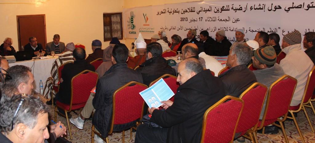 Atelier participatif à la coopérative Tahrir (Sidi Slimane Moul Lkifane, déc. 2013)