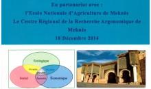INRA Meknès participe au 1er Forum Environnement de l'ACED, 18 Déc. 2014